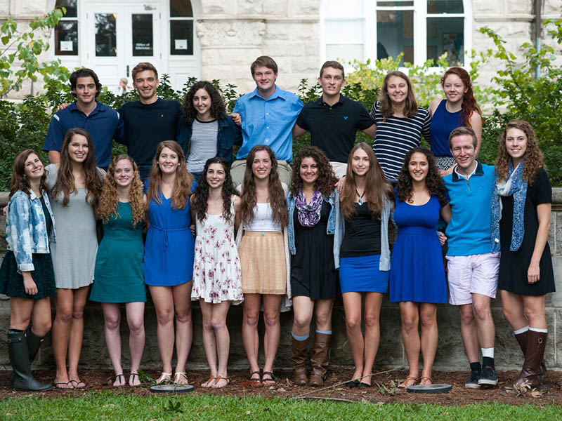 Graduating class of Altman Scholars 2016